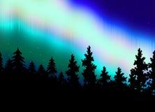 Aurora Borealis-de achtergrond van de stijldesktop Stock Foto