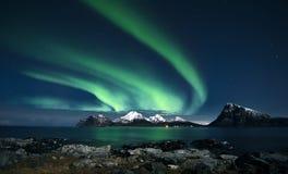 Aurora Borealis De groene Dame van het noorden royalty-vrije stock afbeelding