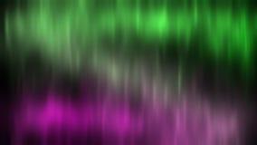 Aurora borealis de lumières du nord un fond du ciel étoilé Vert et rouge 4K illustration stock