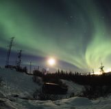 Aurora Borealis display Stock Photography