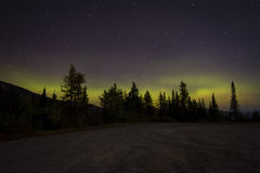 Aurora Borealis in the Early Morning Royalty Free Stock Image