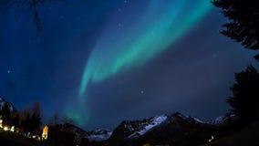 Aurora borealis in een timelapse stock video