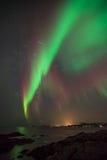 Aurora borealis em Noruega Foto de Stock