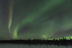 Aurora borealis espectacular (aurora boreal) imágenes de archivo libres de regalías