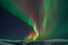 Aurora Borealis. In Fairbanks Alaska stock photos