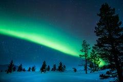 Aurora Borealis. In Finland Lapland Royalty Free Stock Photos