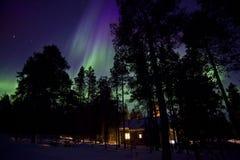 Aurora Borealis in finnish Lapland Stock Photo