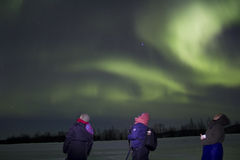 Aurora Borealis in finnish Lapland Stock Photo