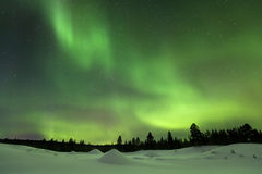 Aurora borealis in Finnish Lapland Royalty Free Stock Images