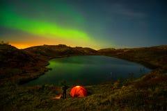 Aurora Borealis Hibiny Arkivfoto