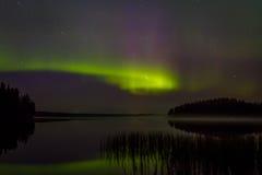 Aurora Borealis i nordliga Skandinavien fotografering för bildbyråer