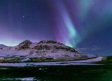 Aurora borealis IJsland royalty-vrije stock fotografie