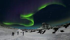Aurora borealis, IJsland stock foto