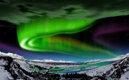 Aurora borealis, IJsland royalty-vrije stock afbeelding