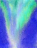 Aurora borealis illustration. Royalty Free Stock Photo