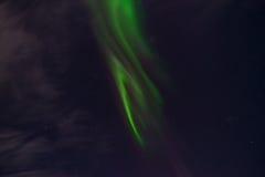 Aurora Borealis im nächtlichen Himmel Stockfoto