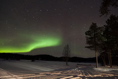Aurora Borealis in Inari, Lapland, Finland Royalty Free Stock Photography