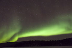 Aurora Borealis in Inari, Lapland, Finland Stock Photo