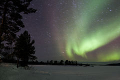 Aurora Borealis in Inari, Lapland, Finland Stock Image