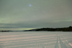 Aurora Borealis in Inari, Lapland, Finland Royalty Free Stock Image