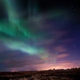 Aurora Borealis (indicatori luminosi nordici) Immagini Stock