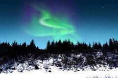 Aurora borealis, Island Lizenzfreies Stockbild