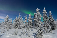 Aurora Borealis in Lapland stock photo