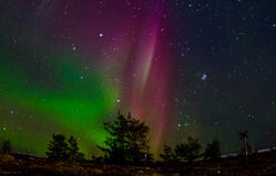 Aurora Borealis @ Levi, Lapland Imagem de Stock Royalty Free