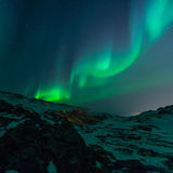 Aurora Borealis lights in winter