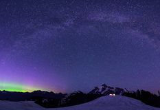 Aurora Borealis and Milky Way from Artist Point Stock Photography