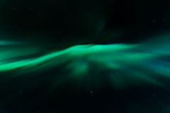 Aurora borealis nel kattisberg, Svezia Fotografia Stock