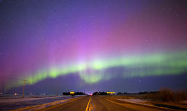 Aurora borealis in night sky Royalty Free Stock Photos