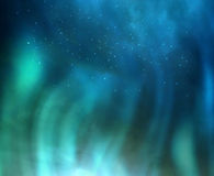 Aurora borealis in night sky. Stock Photo