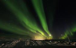 Aurora Borealis no parque nacional de Pingvellir, Islândia sul Imagens de Stock