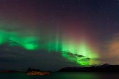 Aurora Borealis, Noordelijke Lichten Stock Afbeeldingen