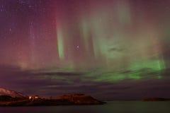 Aurora Borealis, Noordelijke Lichten Royalty-vrije Stock Afbeelding