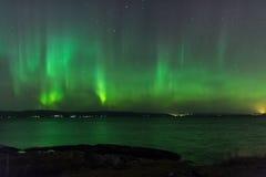 Aurora borealis of Noordelijke Lichten Stock Fotografie