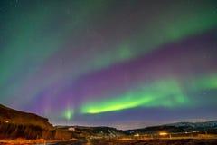 Aurora borealis, noordelijke lichten in IJsland royalty-vrije stock afbeelding