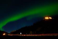 Aurora Borealis & x28; Noordelijke Lights& x29; Stock Fotografie