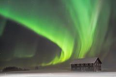 Aurora borealis in Nord-Schweden lizenzfreies stockfoto