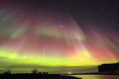Aurora Borealis, Nordleuchten stockbild