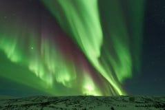 Aurora Borealis/nordliga ljus arkivbilder