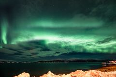 Aurora Borealis - scandinavia Stock Images