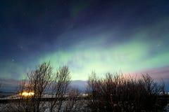 Aurora Borealis Northern Light Iceland Stock Image