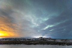 Aurora Borealis Northern Light Iceland Royalty Free Stock Photo