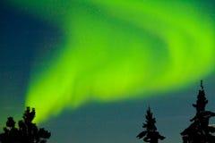 Aurora borealis (Northern lights) display Stock Photography