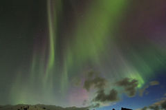 Aurora borealis or the northern lights Stock Image