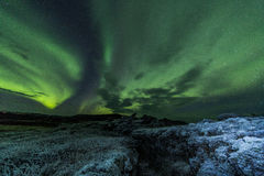 Aurora borealis (Northern lights) Royalty Free Stock Image