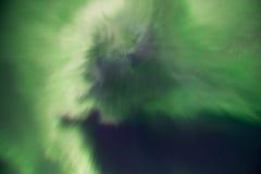 Aurora borealis or Northern lights, Iceland. Green Aurora borealis or Northern lights, Iceland Stock Photos
