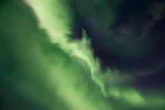 Aurora borealis or Northern lights, Iceland. Green Aurora borealis or Northern lights, Iceland Royalty Free Stock Photos